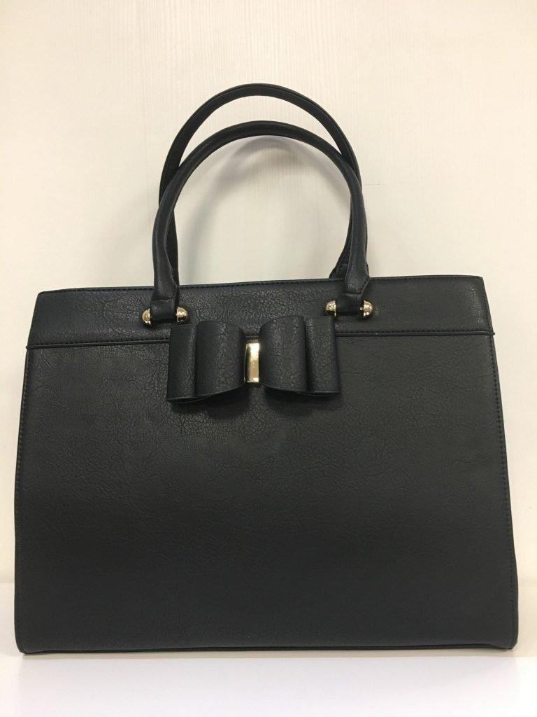 Handtas zwart strik