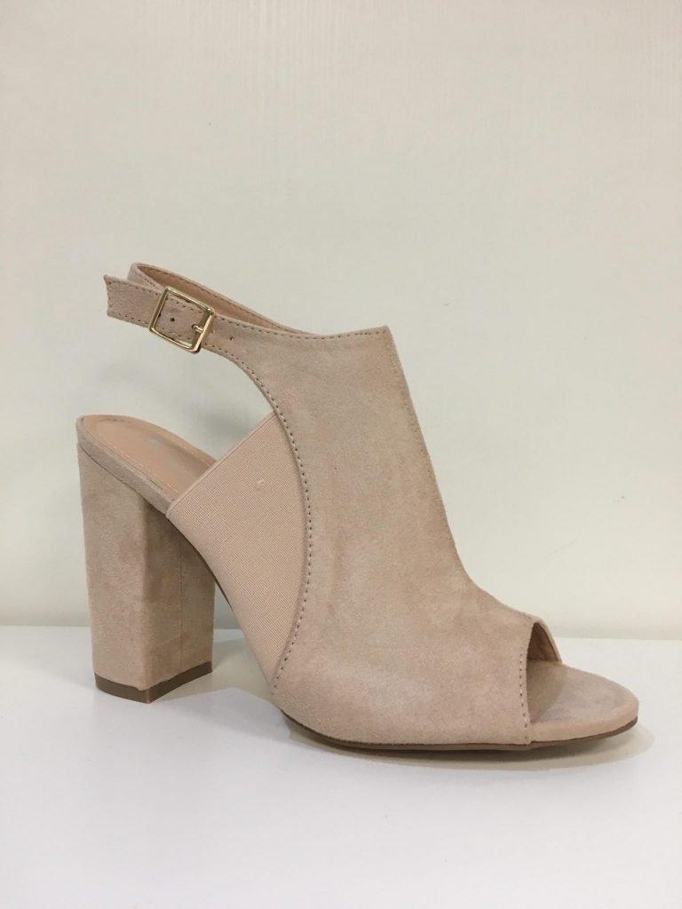 Nude schoen elastiek