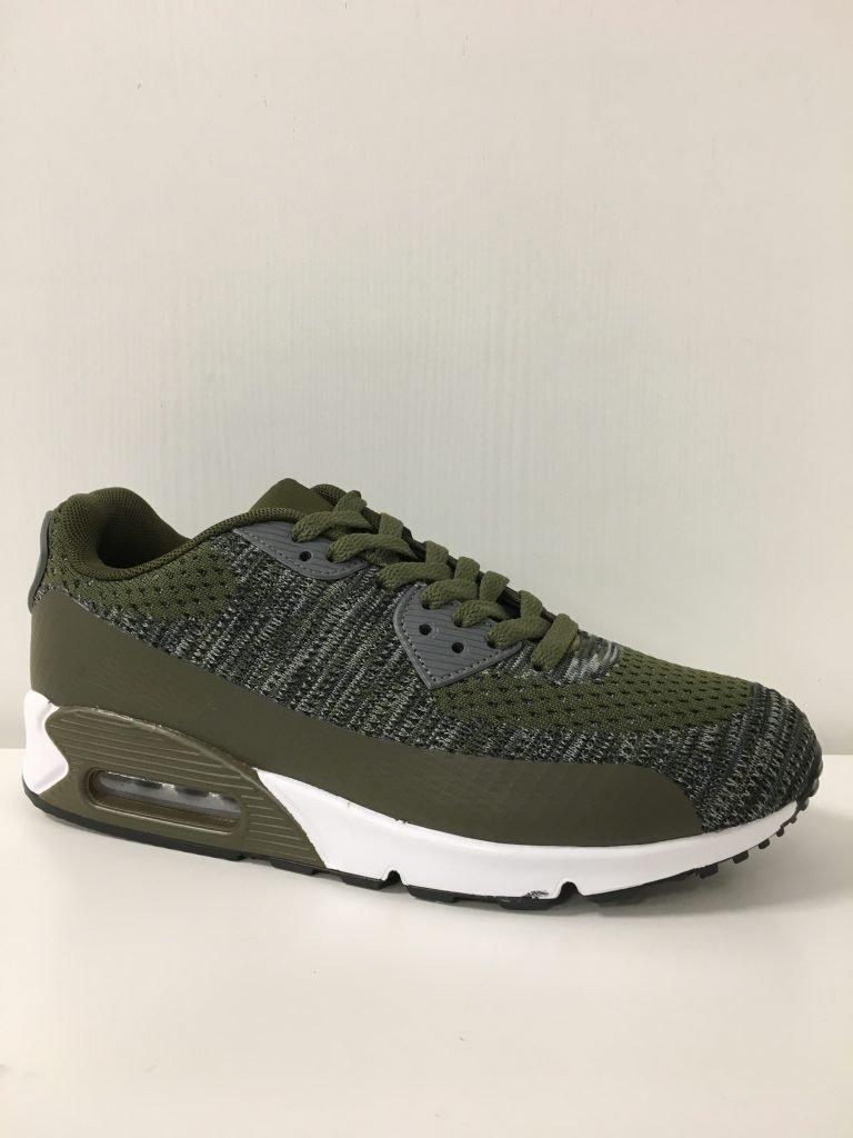 kaki/grijze mannen sneaker