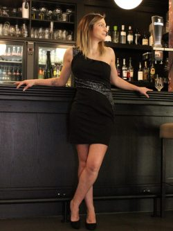 Zwart kleedje zilver zigzag