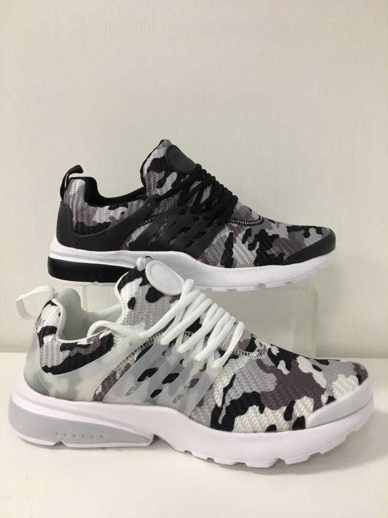 Witte/zwarte camouflage mannen sneaker