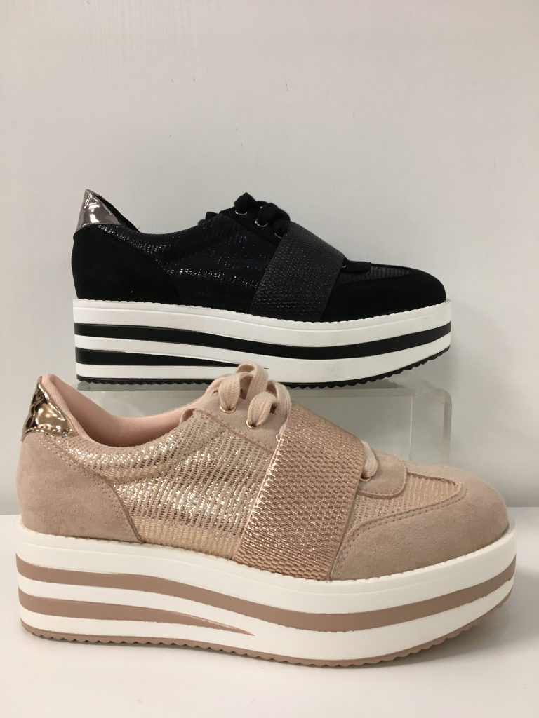 Sneaker plateau elastiek