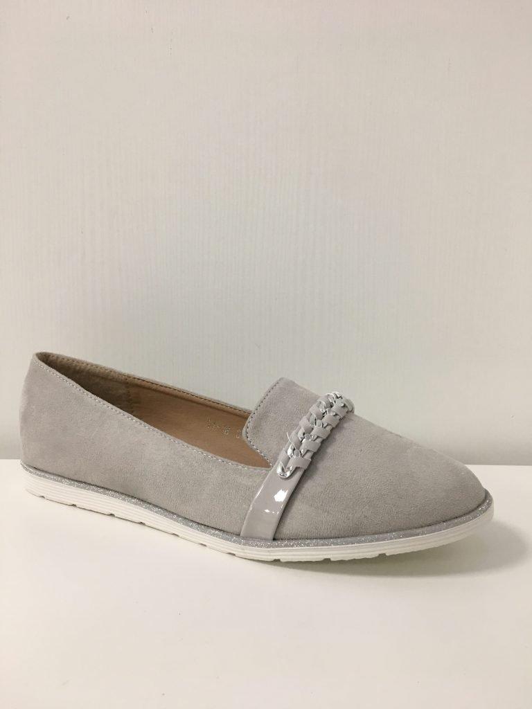 Grijze loafer met ketting