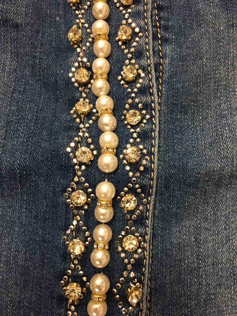 Jeansjasje zigzag motief