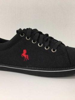 Mannen sneaker zwart/rood