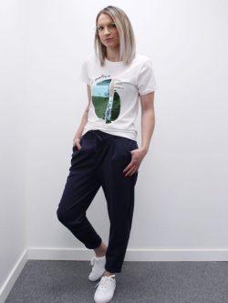 Comfy broek donkerblauw