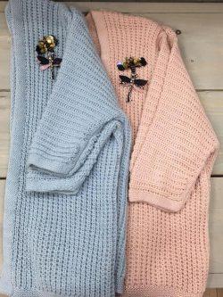 Bernadette golf Lichtblauw/roze