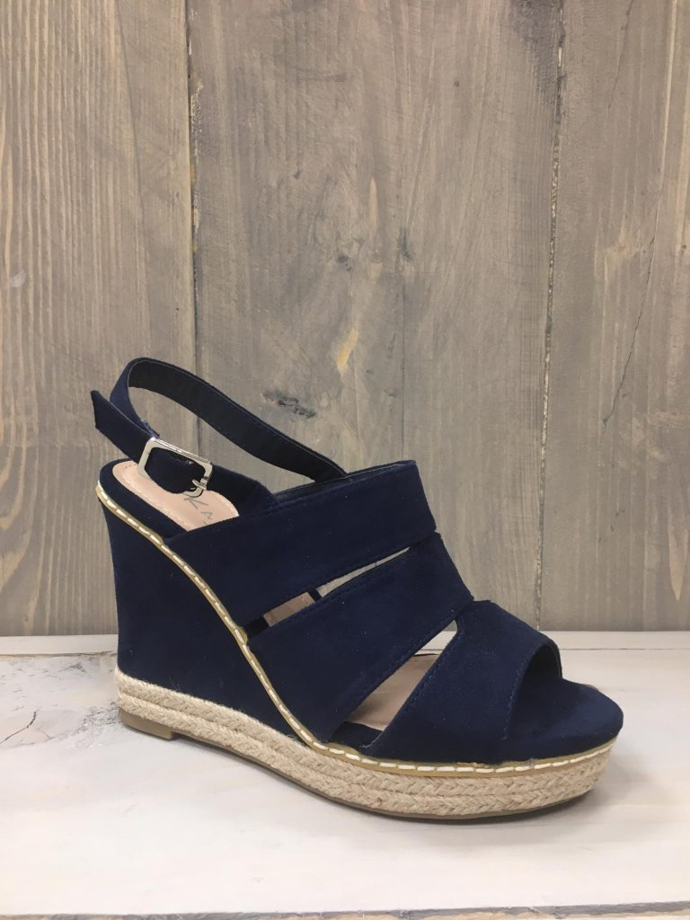 Blauwe schoen bandjes