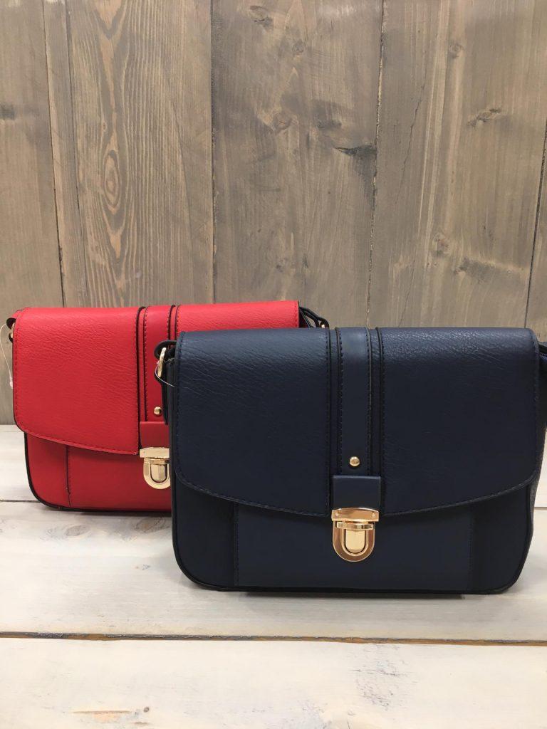 Handtasje slotje rood/donkerblauw