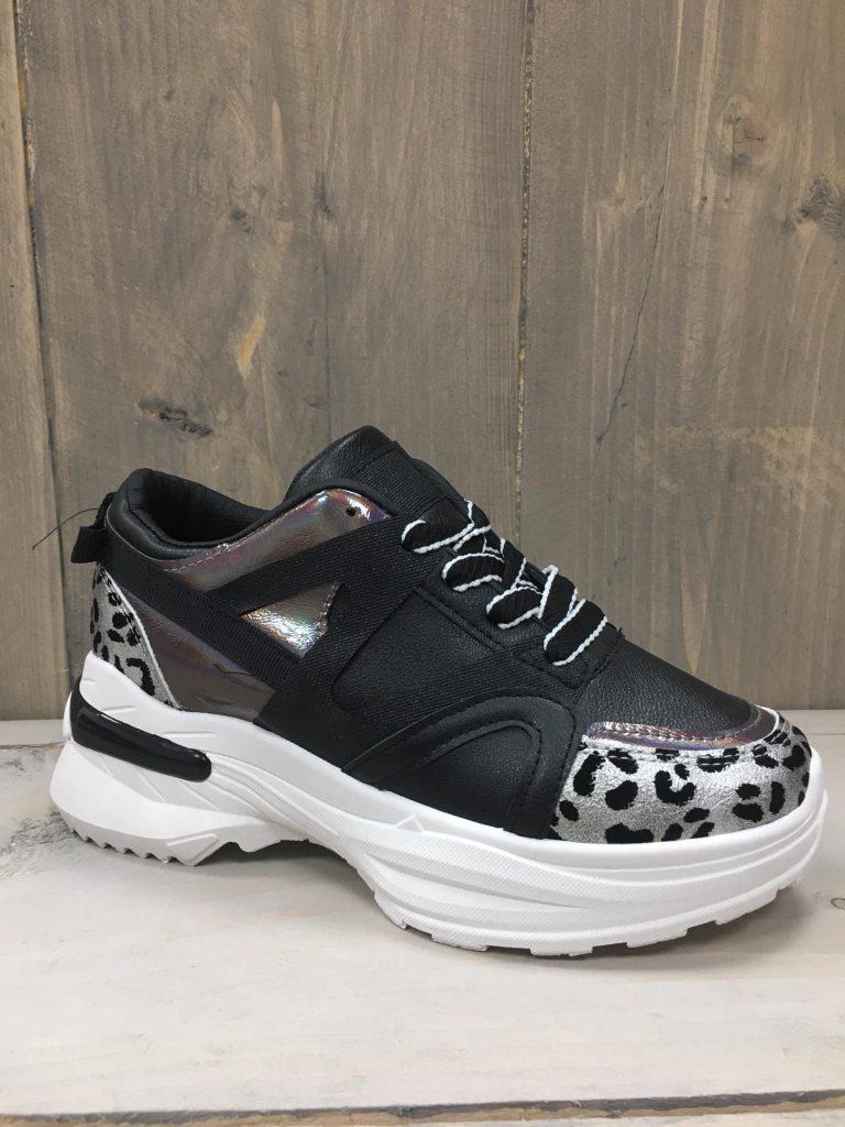 Zwarte sneaker leopard
