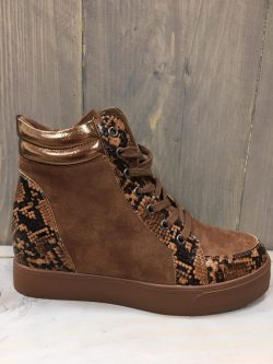 Hoge camel sneaker