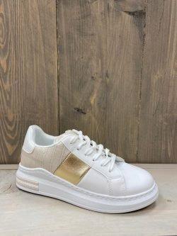 Sneaker goud/beige