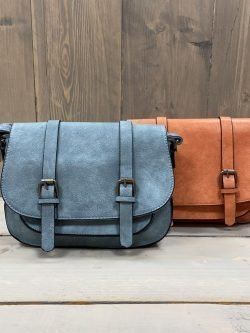 Handtas Cleo Jeansblauw/Oranje