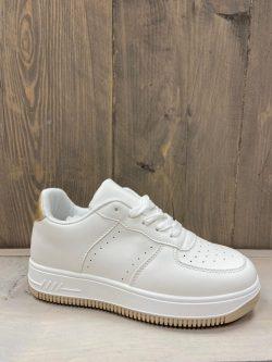 witte sneaker met goud (look a like nike)