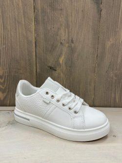 Witte croco sneaker