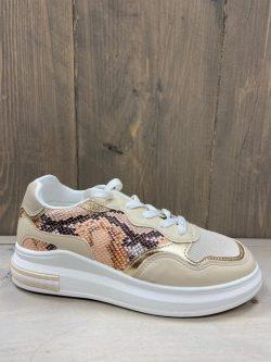Golden snake sneaker