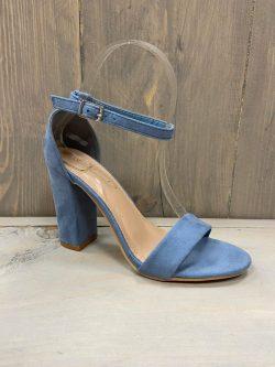 Open schoen jeansblauw