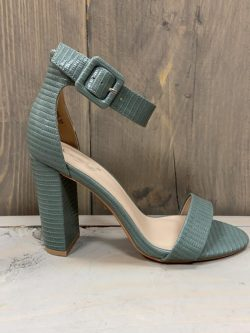 Open schoen snake green