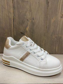 Sneaker gold-glitter