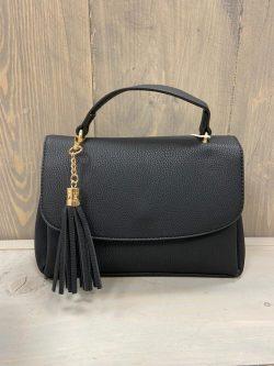 Zwart handtasje flosje