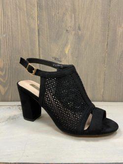 zwarte open schoen Bo
