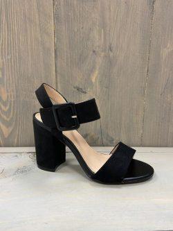 Zwarte open schoen gesp