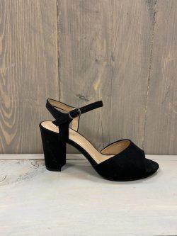 Zwarte open schoen Mia