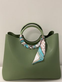 Handtas green sjaaltje
