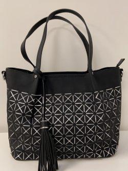 Zwart/Zilveren Handtas