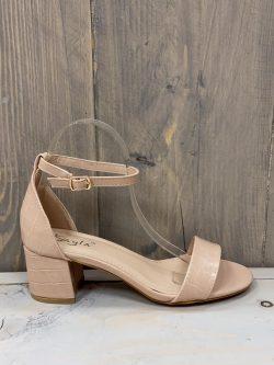 Open beige schoen