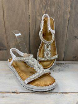 Sandaaltje parel wit