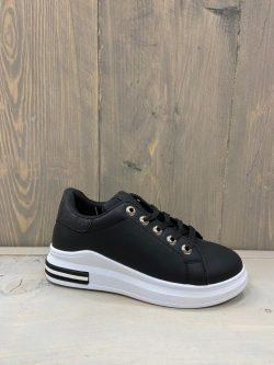 Sneaker zwart glitter