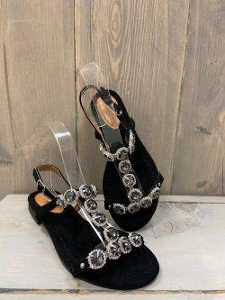 Zwarte sandaaltjes stone