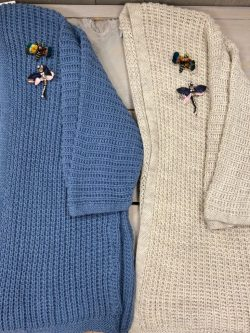 Bernadette golf jeansblauw / beige