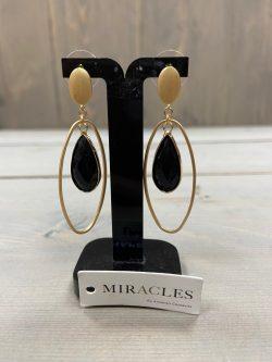 Oorbellen Miracles zwart
