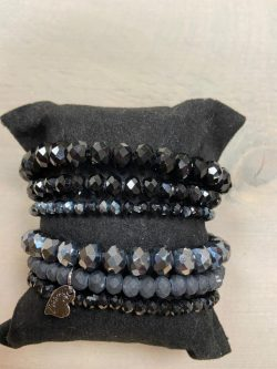 Armbandjes zwart/antacite