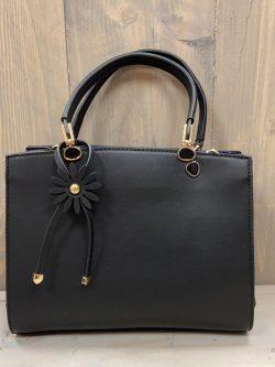 Handtas Flower zwart
