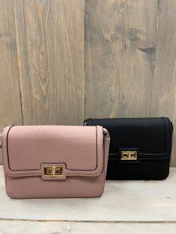 Handtasje Isabella zwart/roze