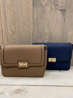 Handtasje Isabella bruin/blauw