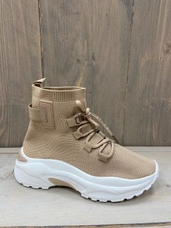 Milou Beige Stocking Sneaker