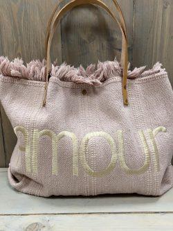 Handtasje amour roze
