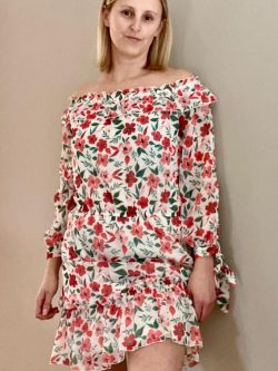 Yentl K collectie  Red flower dress