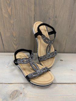 Sandaaltje Milla Zwart